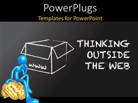 PowerPlugs: PowerPoint template with an open box with a person sitting on a brain
