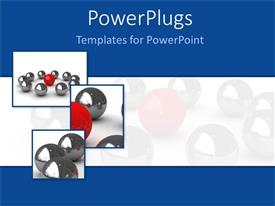 PowerPlugs: PowerPoint template with an open door with a number of balls in the background
