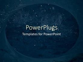 PowerPlugs: PowerPoint template with an opening showing the night view of the sky with lots of stars