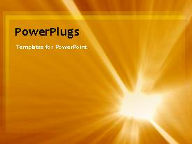 PowerPlugs: PowerPoint template with an orange background with a bullet point