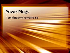 PowerPlugs: PowerPoint template with an orange background with a lot of lines