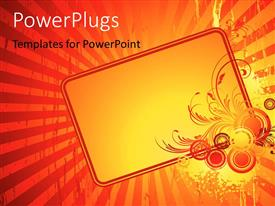 PowerPlugs: PowerPoint template with an orange background with a number of lines