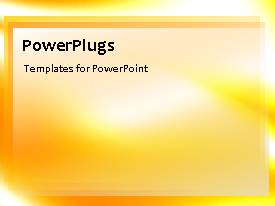 PowerPlugs: PowerPoint template with an orange background with a sentence
