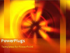 PowerPoint template displaying an orange background with a wheel