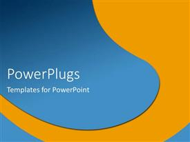 PowerPlugs: PowerPoint template with orange and blue river metaphor abstract