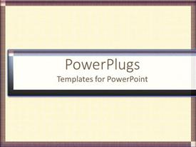 PowerPlugs: PowerPoint template with orange patterned grid lines with beautiful brown frame