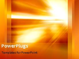 PowerPlugs: PowerPoint template with an orange and yellow background with a sentence