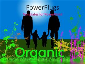 PowerPlugs: PowerPoint template with organic world with family, blue sky