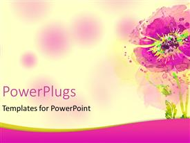 PowerPlugs: PowerPoint template with a close up view of a painted purple flower