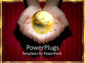 PowerPlugs: PowerPoint template with a pair of adult hands holding an earth globe