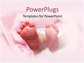 PowerPlugs: PowerPoint template with a pair of baby feet on a pink background