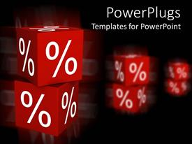PowerPlugs: PowerPoint template with a pair of dices with their reflection in the background
