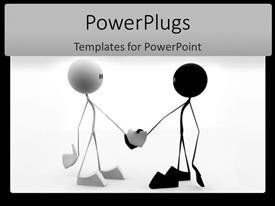 PowerPlugs: PowerPoint template with a pair of figures shaking hands