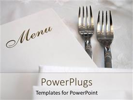 PowerPlugs: PowerPoint template with a pair of forks with the menu