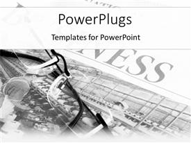 PowerPlugs: PowerPoint template with a pair of glasses with picture in the background