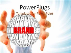 PowerPlugs: PowerPoint template with a pair of hands trying to hold a ball