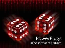 PowerPlugs: PowerPoint template with pair loaded dice with six on every side