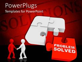 PowerPlugs: PowerPoint template with a pair after solving a jigsaw puzzle