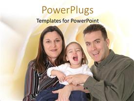 PowerPlugs: PowerPoint template with parents with naughty baby with smooth yellow shades