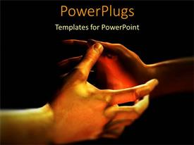 PowerPlugs: PowerPoint template with partnership friendship metaphor with two hands getting ready to shake