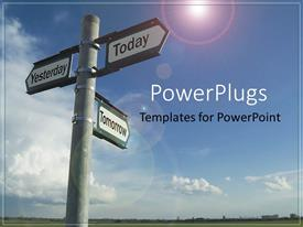 PowerPlugs: PowerPoint template with past present future street signs directions decisions choices