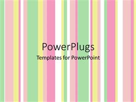 PowerPlugs: PowerPoint template with pastel vertical stripes, green, yellow, pink, white