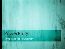 PowerPlugs: PowerPoint template with pattern of old grunge wall texture background in blue