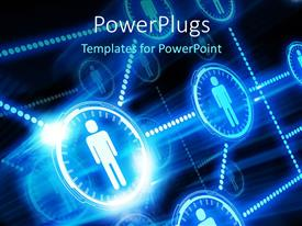 PowerPlugs: PowerPoint template with people connected to each other in a network with black color