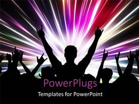 PowerPlugs: PowerPoint template with people dancing and partying with high energy