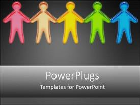 PowerPlugs: PowerPoint template with people holding hands together joining diversity victims