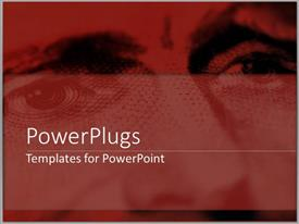 PowerPlugs: PowerPoint template with a peron's eyes and nose with place for text