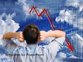 PowerPlugs: PowerPoint template with a person angry because of the market crash