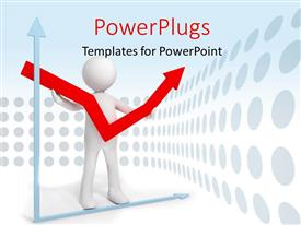 PowerPlugs: PowerPoint template with a person with an arrow and circles in the background
