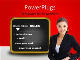 PowerPlugs: PowerPoint template with a person with a blackboard in the background