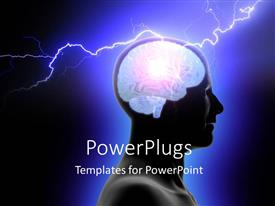 PowerPlugs: PowerPoint template with a person with his brain being given electric jolt