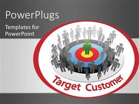 PowerPlugs: PowerPoint template with a person in the centre with a number of people around him