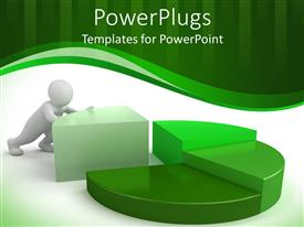 PowerPlugs: PowerPoint template with a person completing a circle with white background