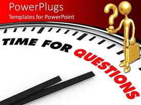 PowerPlugs: PowerPoint template with a person who is confused with a clock