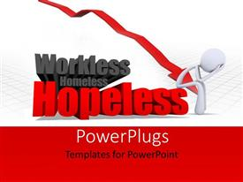 PowerPlugs: PowerPoint template with a person confused due to hopelessness
