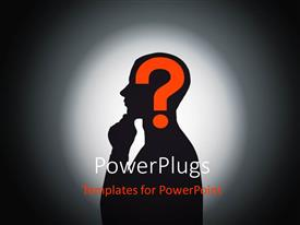 PowerPlugs: PowerPoint template with a person who is confused with a greyish background