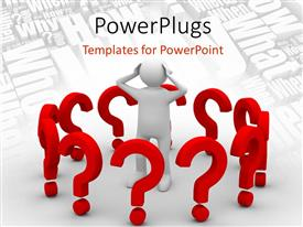 powerpoint template: man with bare chest, red and yellow belt, Presentation templates