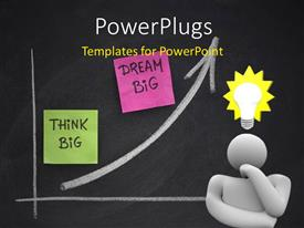 PowerPlugs: PowerPoint template with a person confused because of various ideas