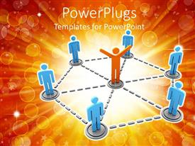 PowerPlugs: PowerPoint template with a person connected to a lot of other persons