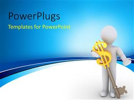 PowerPlugs: PowerPoint template with a person with a dollar sign and key