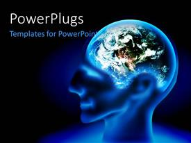 PowerPlugs: PowerPoint template with a person with the Earth instead of brain