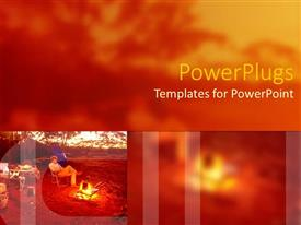 PowerPlugs: PowerPoint template with a person enjoying himself with greenery in the background