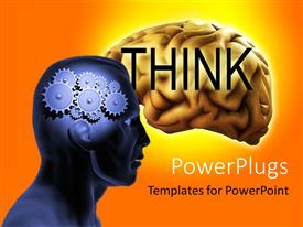 PowerPlugs: PowerPoint template with a person with gears instead of the mind