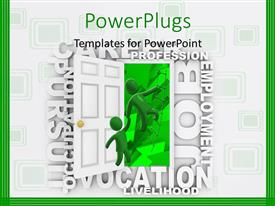 PowerPlugs: PowerPoint template with a person helping the other one with white background