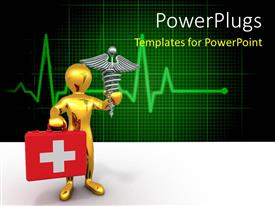 PowerPlugs: PowerPoint template with a person holding the first aid box and medical sign