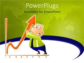 PowerPlugs: PowerPoint template with a person holding the growth arrow